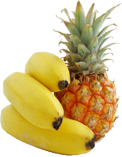 bananas and pineapple